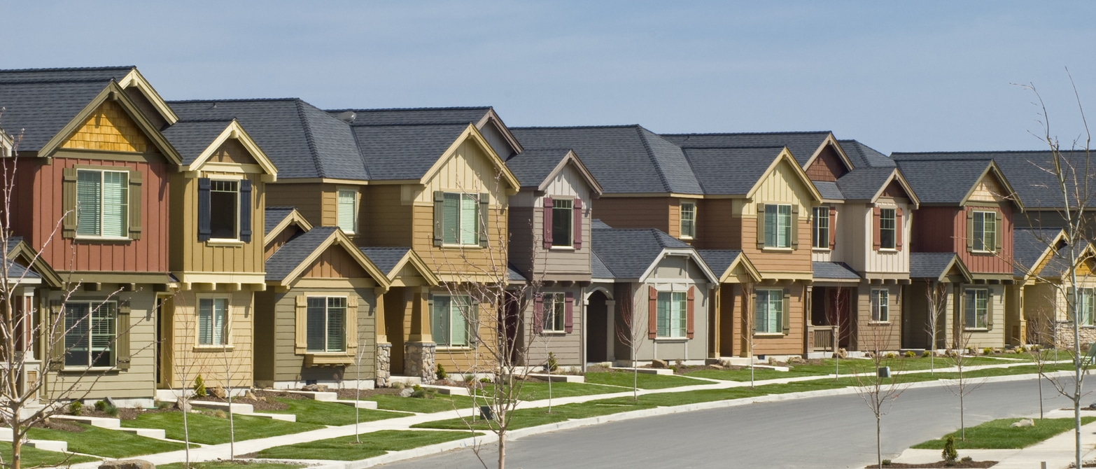 Row of homes